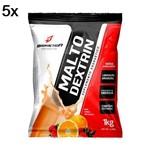 Kit 5X Malto Dextrin - 1000g Refil Laranja com Acerola - BodyAction