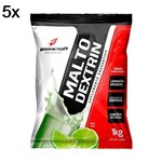 Kit 5X Malto Dextrin - 1000g Refil Limao - BodyAction