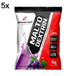 Kit 5X Malto Dextrin - 1000g Refil Uva - BodyAction