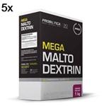 Kit 5X Mega Maltodextrin - 1 Kg Guaraná com Açaí - Probiótica