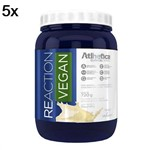 Kit 5X Reaction Vegan - 720g Baunilha - Atlhetica Nutrition
