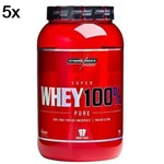 Kit 5X Super Whey 100% Pure - 907g Chocolate - IntegralMédica