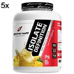 Kit 5X Whey Isolate Definition - 2000g Abacaxi, Banana, Laranja - BodyAction