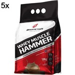 Kit 5X Whey Muscle Hammer - 1800g Chocolate - BodyAction