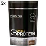 Kit 5X 3 Whey Protein - 825g Chocolate - Probiótica