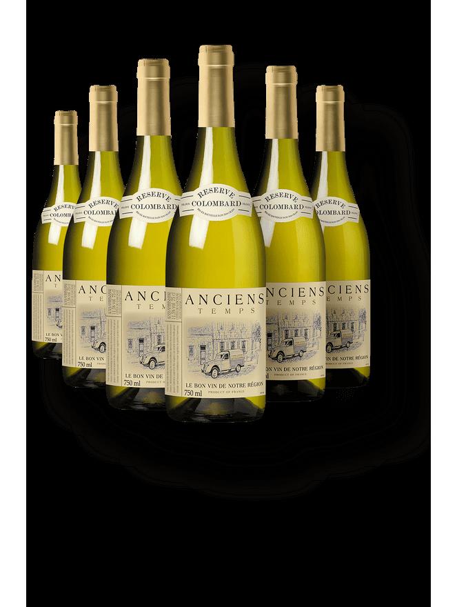 Kit 6 Anciens Temps Reserve Colombard - Sauvignon Blanc