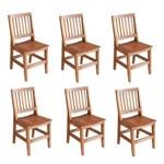 Kit 6 Cadeiras Confort em Madeira de Lei Maciça