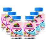 KIT 6 COLÁGENO HIDROLISADO 1000mg - 180 Tabletes - com Vitamina a e C - Tratamento da Pele