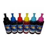 Kit 6 Tinta Refil para Bulk Ink Tanque Tinta Epson L375 L395 L475 L355 100ml Corante Chinamate