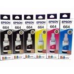 Kit 6 Tintas Epson Original L380 L395 L375 L365 L220 L455