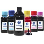 Kit 6 Tintas para Epson T673 Black 500ml Coloridas 100ml