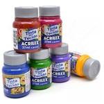 Kit 6 Tintas para Pintar Tecido Fosca - Acrilex