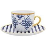 Kit 6 Xícaras para Chá com Pires Lusinata Porcelana EM21-4988 - Oxford