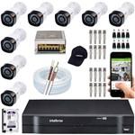 Kit Cftv 8 Cameras Multi Hd Intelbras Casa Loja Comercial
