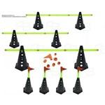 Kit 8 Cones Furado C/ Barreira Funcional Black Agilidade
