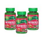 Kit com 3 Acerola Vitamina C - Unilife - 60 Cápsulas