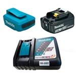 Kit Adaptador Compacto + Bateria Íons de Lítio + Carregador de Bateria - Makita