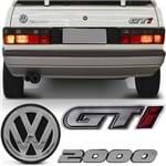 Kit Adesivo Emblema do Porta Malas Gol Quadrado 1991 a 1995 - GTI 2000
