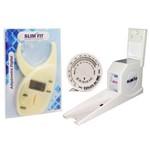 Kit Adipômetro Digital com Estadiômetro e Trena com Disco de IMC para Avaliação Física - Slim Fit