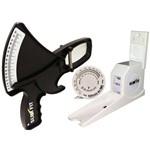 Kit Adipômetro Plicômetro com Estadiômetro e Trena para Avaliação Física - Slim Fit