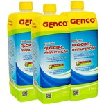 Kit 3 Algicidas de Manutenção para Piscinas 1 Litro Genco