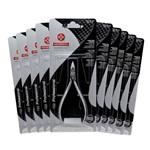 Kit Alicate Mundial 722 para Cuticula Inox 10 Unidades