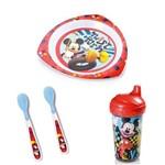 Kit Alimentação Mickey C/ Prato Raso Multikids