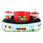 Kit Almofada Porta Pipoca 2 Copos Super Mario 10063802