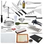 """Kit Aluno (Accademia Gastronomica) Completo Century (Chefe 08"""") - com Faca Chef 8"""" (Não Acompanha Pasta)"""