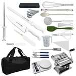 """Kit Aluno (Anhembi Morumbi - Pós Graduação) Cozinha Profissional Master (Chefe 08) - com Faca Chef 8"""""""