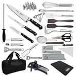 """Kit Aluno (FASIPE) Century (Chefe 08) - com Faca Chef 8"""""""