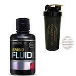 Kit AMINO FLUID 37000 480ml Cereja + Coqueteleira 600ml com Mola