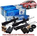 Kit Amortecedor Dianteiro + Traseiro Batentes Kit352 Prisma /onix