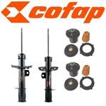Kit 2 Amortecedores Dianteiros Novo Corsa Corsa Joy + Coxins + Kits (Batentes e Coifas)