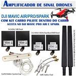 Kit Amplificador de Sinal para Drone com Kit Controle Carro para Dji Mavic Air/pro/spark 6 Antenas