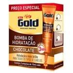 Kit Ampola de Tratamento Niely Gold Bomba de Chocolate 15ml 3 Unidades