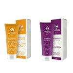 Kit Anasol Facial Viso Antirrugas Dia Protetor Solar FPS 50 + Antirrugas Noite