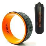 Kit Anel de Yoga Liveup LS3750 Pilates Exercícios Magic Circle + Squeeze Automático 1lt
