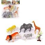 Kit Animais Selvagem de Plástico com 7 Peças - Well Kids