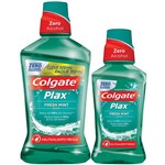 Kit Antisséptico Bucal Colgate Plax Fresh Minti 2 em 1 500ml Mais 250ml