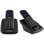 Kit Telefone Sem Fio TS 63 V Preto com Ramal Intelbras