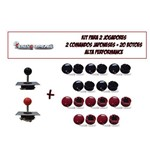 Kit Arcade 02 Players Alta Performance Estilo Sanwa Japones