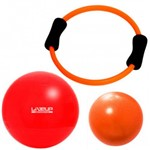 Kit Arco Flexivel + Over Ball 25 Cm + Bola Suica 45 Cm Liveup