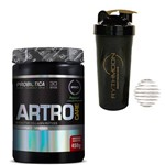 Kit ARTRO CARE 450G Morango + Coqueteleira 600ml com Mola