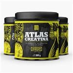 Kit Atlas Creatina 300g - 3 Potes Iridium Labs