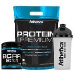 Kit Atlhetica Whey Protein Premium (1,8kg) + BCAA 2:1:1 em Pó + Shakeira