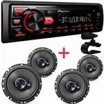 Kit Auto Radio Pioneer Mvh-298+kit 2 Pares Falantes1760