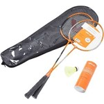 Kit Badminton Vollo 2 Raquetes e 3 Petecas de Nylon