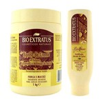 Kit Banho de Creme Tutano 1Kg Umidificador Ativador de Cachos Biottano 150g - Bio Extratus
