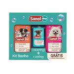 Kit Banho Sanol Dog - Sampoo 500ml + Colônia 120ml GRÁTIS Condicionador 500ml